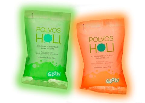 POLVOS HOLI GLOW 75g y 650g
